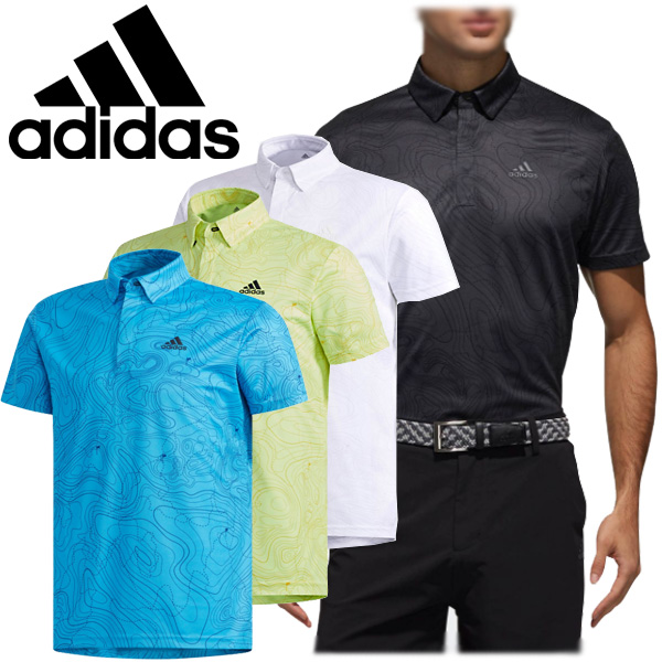 discount sale huge selection of low price sale Adidas golf wearware men short sleeves button-down shirt FVE71 2019 spring  and summer