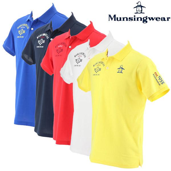 【あす楽対応】マンシングウェア ゴルフウェア メンズ 半袖ポロシャツ MGMNJA12 2019春夏