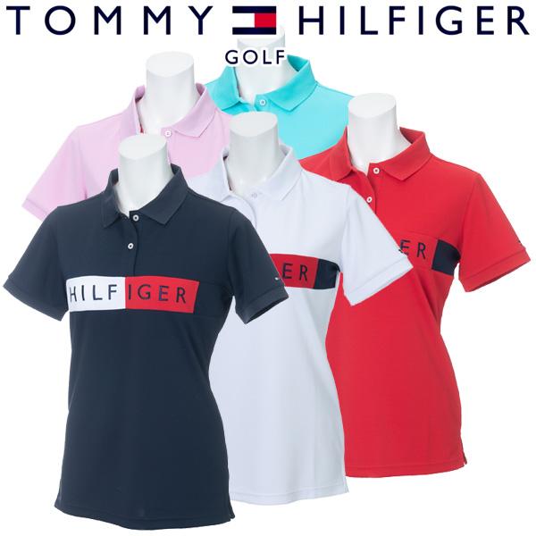 【あす楽対応】トミーヒルフィガー ゴルフウェア レディース 半袖ポロシャツ THLA908 2019春夏