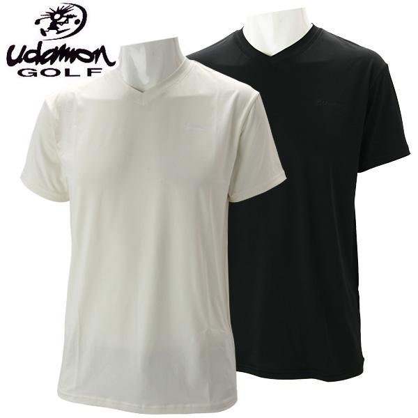 f3e87bb1d Judah man golf wear V neck short sleeves stretch inner shirt XUD2021  UdamonGOLF <&lt ...