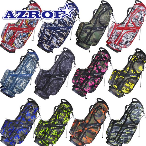 AZROF アズロフ 最新号掲載アイテム AZSTCB01 ゴルフ 9インチスタンドバッグ 日本最大級の品揃え AZ-STCB01 カラーNo.03-123 スタンドキャディバッグ