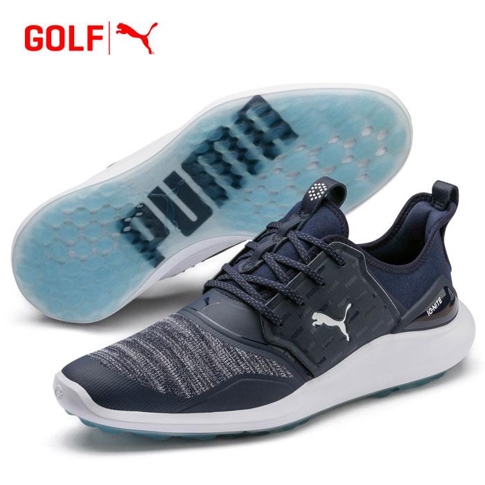 【あす楽対応】プーマ ゴルフ イグナイト NXT ビッグロゴ ゴルフシューズ 193024 01 メンズ ゴルフシューズ 2019モデル スパイクレス