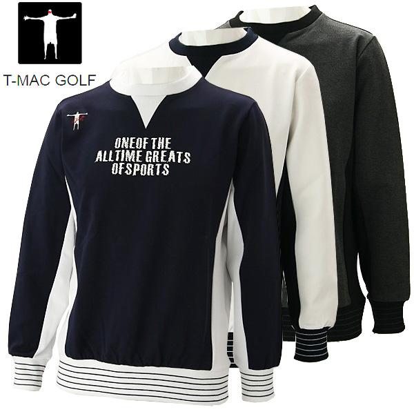 【在庫処分】【あす楽対応】ティーマック メンズ ゴルフウェア 長袖トレーナー K57 T-MAC 秋冬