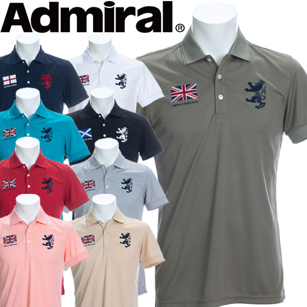【メール便対応】【あす楽対応】アドミラル ゴルフウェア メンズ フラッグ ポロシャツ 半袖 ADMA016 2020春夏