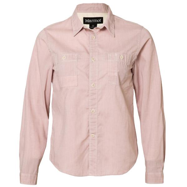 マーモット Ws T/C Dungaree L/S Shirt シャツ レディース TOWLJB77-LPNK