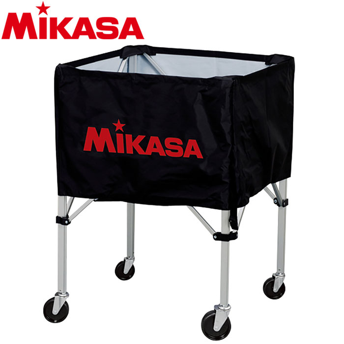 ミカサ ボールカゴ 箱型 大 ブラック BC-SP-H-BK 9068005