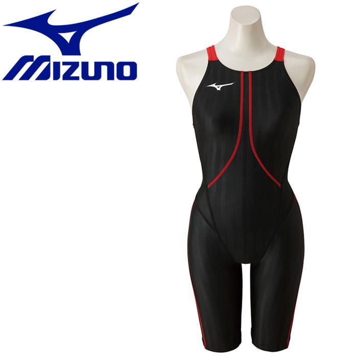ミズノ 水泳 ストリームアクセラ ハーフスーツ 水着 レディース N2MG822396 返品不可