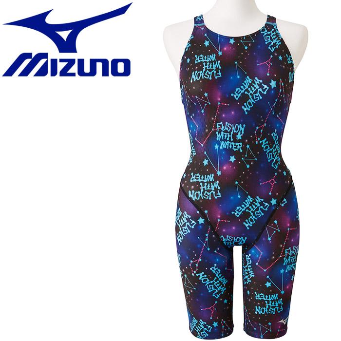【メール便対応】ミズノ 水泳 ストリームアクティバ ハーフスーツ オープン 競技水着 レディース N2MG974827