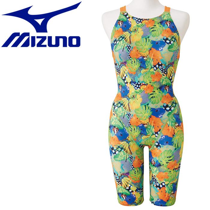 【メール便対応】ミズノ 水泳 ストリームアクティバ ハーフスーツ オープン 競技水着 レディース N2MG974937
