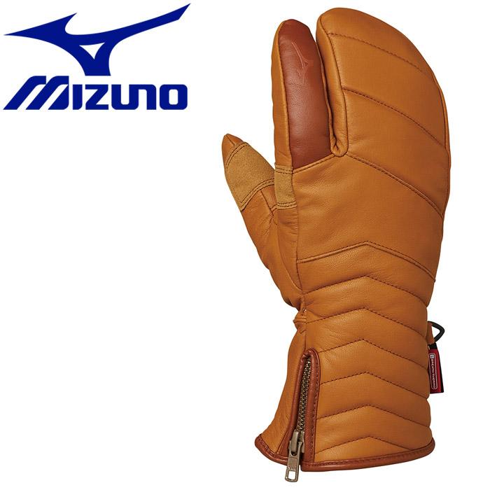 MIZUNO 【最大1,500円OFFクーポン発行中!!有効期間:3/4(水)20:00~3/11(水)01:59迄】ミズノ ウインター Leather 3Finger Gloves グローブ Z2JY950251