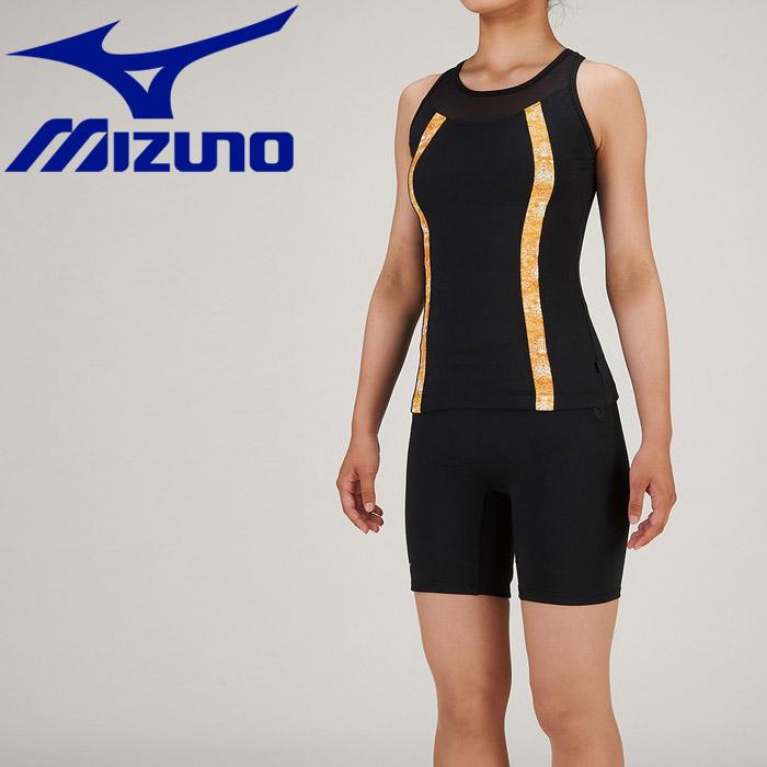 ミズノ 水泳 セパレーツ 3.5分丈 フィットネス 水着 レディース N2JG934309 返品不可