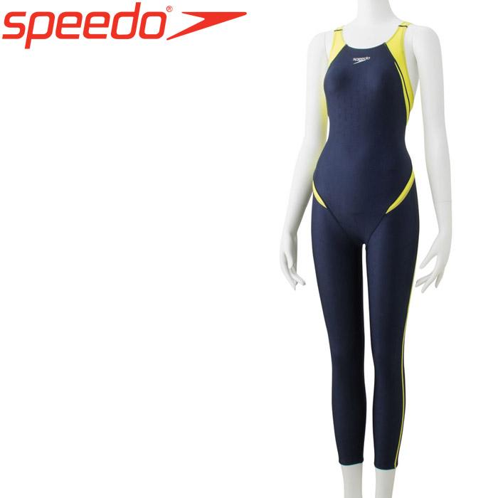 スピード 水泳 フレックスシグマ2ロングジョン 競泳 水着 レディース SCW31909-BW 返品不可