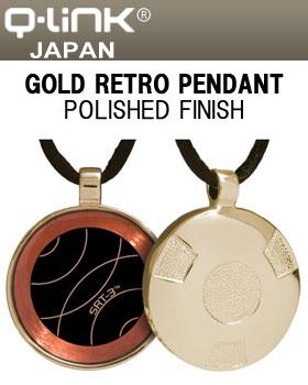 ◇Q-Link(キューリンク) Gold Retro(レトロ) ペンダント ゴールド ポリッシュ 日本正規品