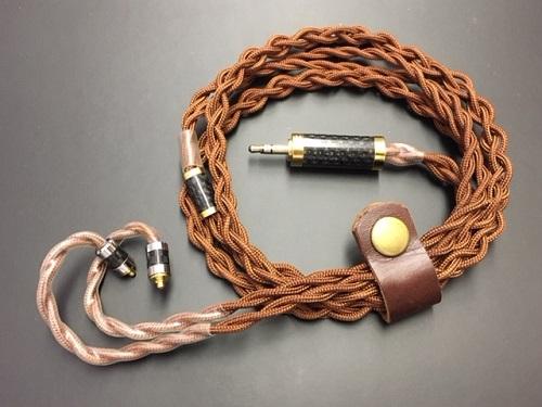 【送料無料】イヤホン交換用ケーブル 特注品MMCX用 Rhapsodio製ケーブル 高純度銅線