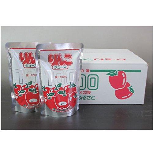 秋田ふるさと農協 舗 増田町 果汁100%りんごジュース 1ボール 信託 180g×20個