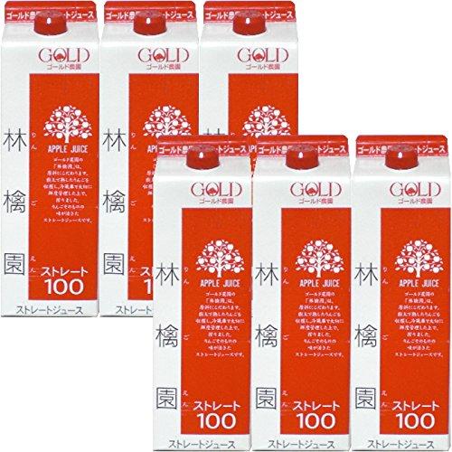 ゴールド農園 ストレートリンゴジュース 林檎園 品質検査済 1000g 送料無料でお届けします