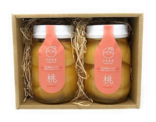 津軽農園 永遠の定番 旬の朝採れだけを閉じ込めた桃のコンポート 300g×2入 定番