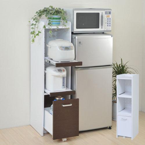 すきま 隙間収納 キッチン ミニ 食器棚 キッチン家電収納 家電ラック 家電収納棚 コンパクト 収納 スリム ラック 棚 幅30 高さ 120 キッチンラック