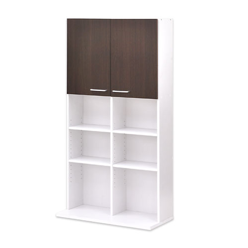 ワンルーム 収納家具 北欧 スタイル ポップ デザイン ベーシック 送料無料 ブラウン ホワイト 白 おしゃれ