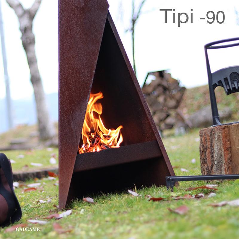 ヒタ Tipi 90 品番:81042 アウトドアファイヤープレース 屋外ストーブ 焚き火 デンマーク HETA ティピ ティピ90庭あそび キャンプ アウトドア グランピング アウトドアクッキング キャンプファイヤー 焚火 焚き火 ファイヤーサイド コールテン綱