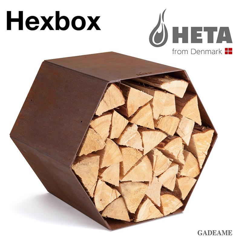ヒタ Hexbox 品番:81045 ウッドストッカー 薪の整理棚 薪置き場 薪収納 Tipiとコーディネート 庭のアートオブジェ アウトドア デンマーク HETA 庭あそび キャンプ アウトドア グランピング キャンプファイヤー 焚火 焚き火 ファイヤーサイド コールテン綱