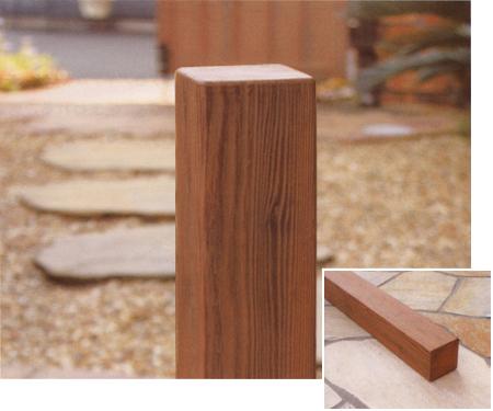 ディーズガーデン ナチュラルな木のイメージで門廻りを演出する木調デコレーションパーツ ディーズデコ ティンバー 80×80タイプ(L1850)F-1M【ディーズガーデン正規特約店】