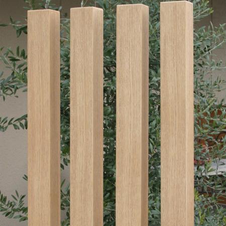 ディーズガーデン ナチュラルな木のイメージで門廻りを演出する木調デコレーションパーツ ディーズデコ ティンバー 80×80タイプ(L1850)F-6M【ディーズガーデン正規特約店】