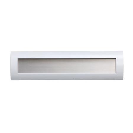 シンプルでベーシックなステンレス製郵便ポストi-Collabo アイコラボType R 白×ステンレスきりこみ120mm