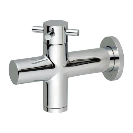 立水栓シンプルなデザインのガーデンフォーセットUNISONガーデンフォーセットブライトフォーセット クロス【smtb-kd】
