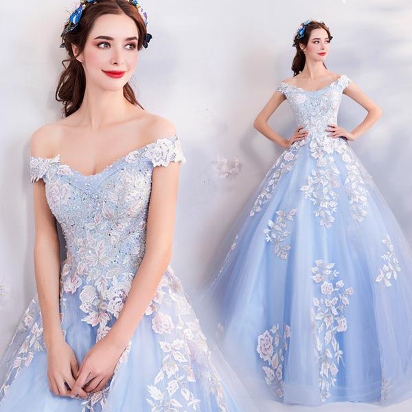 941df26c17a08 ドレス 二次会 花嫁 演奏会ドレス レース刺繍 花嫁ドレス・パーティー・イブニングドレス・