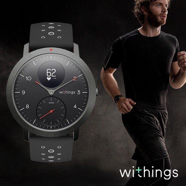 スマートウォッチ Withings ウィジングズ Steel HR Sport Black 40mm 心拍計測 ウォーキング ランニング
