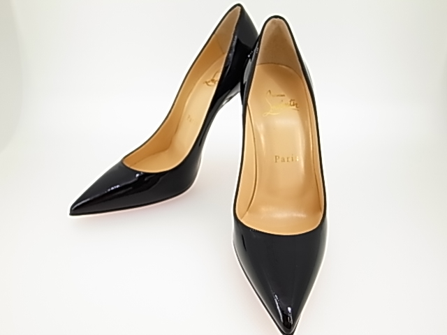 timeless design eb071 15e14 Christian ルブタン 3120836 デコレート 554 pumps high-heeled shoes black / red size  36 (23cm) patent leather enamel DECOLLETE 554 100 PATENT ...