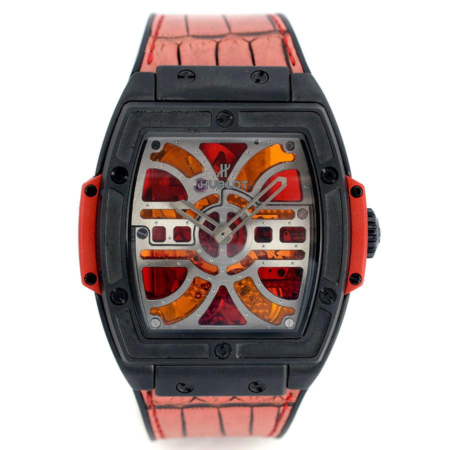 【HUBLOT】ウブロ 612.CI.0002.LR スピリット・オブ・ビッグバン ヴィクトレイル セラミック 自動巻き レッド シースルー 腕時計【送料無料】【中古】[おすすめ]