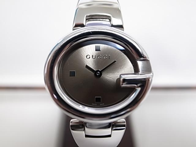 549f75d4834 Gucci YA134503 stainless steel Oval G bezel bronze dial quartz Lady s watch
