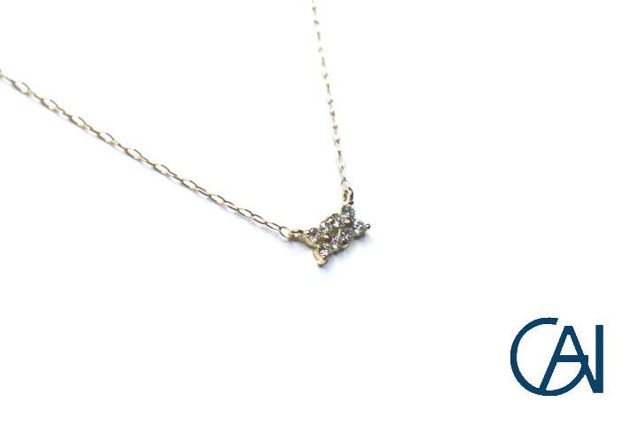 ダイヤモンド D0.10ct サービス K18YG フラワーモチーフ 希望者のみラッピング無料 ネックレスD0.10ct ペンダント 新品