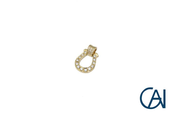 新作人気モデル GAI~Select 馬蹄ペンダント Jewelry~K18YG 馬蹄ペンダント トップ GAI~Select Mサイズ トップ Mサイズ D0.35ct【未使用品】, 藤八屋:b3b86cba --- eamgalib.ru