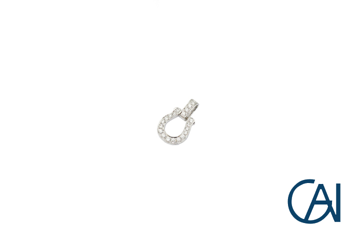 GAI セレクトジュエリー 安全 K18 ホワイトゴールド オープニング 大放出セール ペンダント トップ ダイヤモンド 新品 K18WG ユニセックス D0.22ct Sサイズ 馬蹄ペンダント