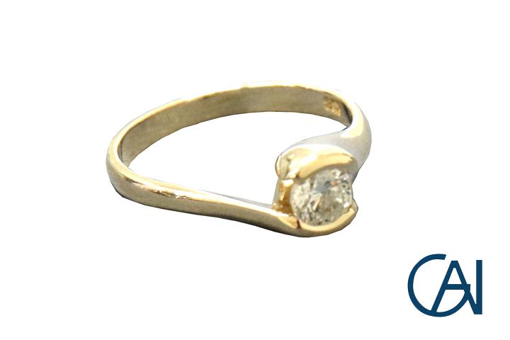 ダイヤモンドリング GAI~Petit 買い物 Jewelry~ K18YG D0.38ct 返品不可 新品