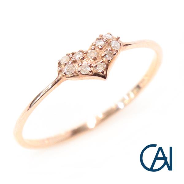 GAI ~Petit Jewelry~PG ハート ダイヤモンド リング【展示新品】