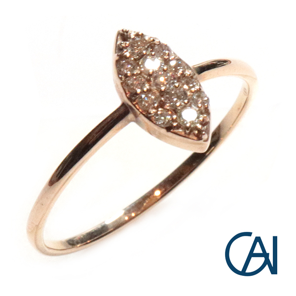 GAI ~Petit Jewelry~K10YG D0.10ct ダイヤモンド リング【展示新品】【送料無料】