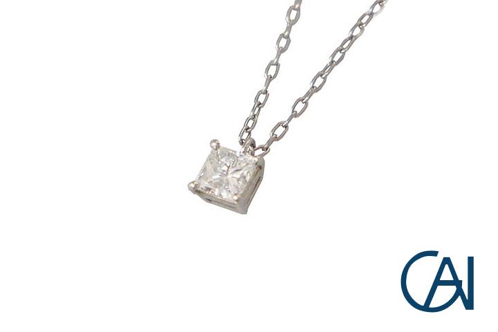GAI~Select Jewelry~PT ダイヤモンドネックレス/ペンダント D0.391ct【未使用品】