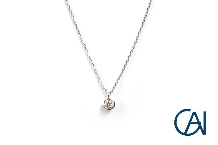 GAI~Select Jewelry~ PT ダイヤモンドネックレス D0.08ct【未使用品】