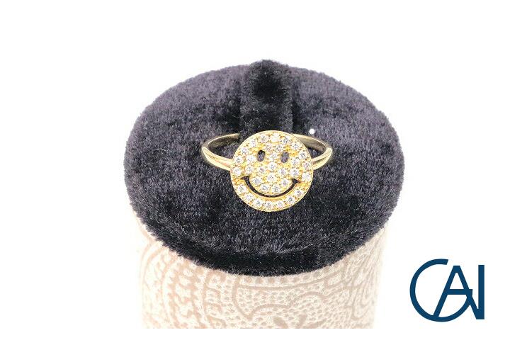 GAI ~Select Jewelry~K18YG スマイルダイヤモンドリング D0.26ct【展示新品】