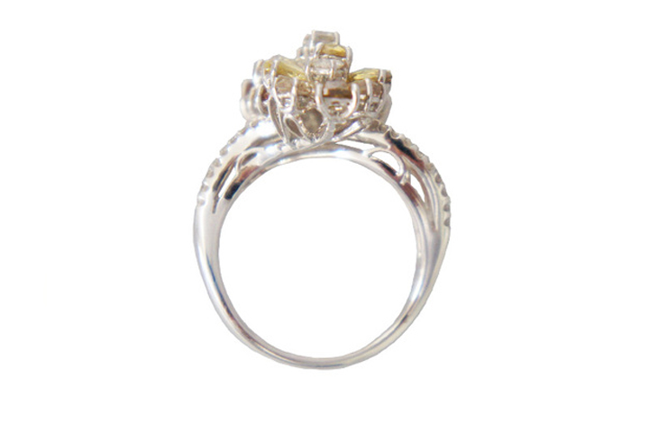 GAI ~Select Jewelry~K18WG ダイヤモンドファッションリングD2.74ct 【展示新品】