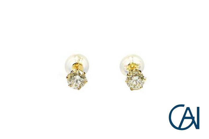 GAI ~Select Jewelry~K18YG ダイヤモンド1粒ピアスD0.50ct【展示新品】