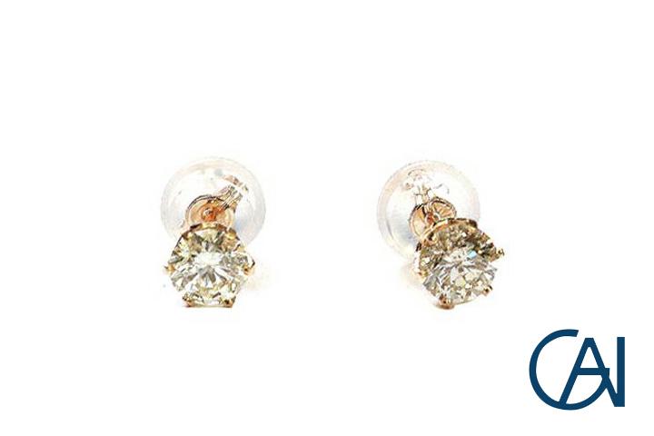 GAI ~Select Jewelry~K18PG ダイヤモンド1粒ピアスD0.50ct【展示新品】