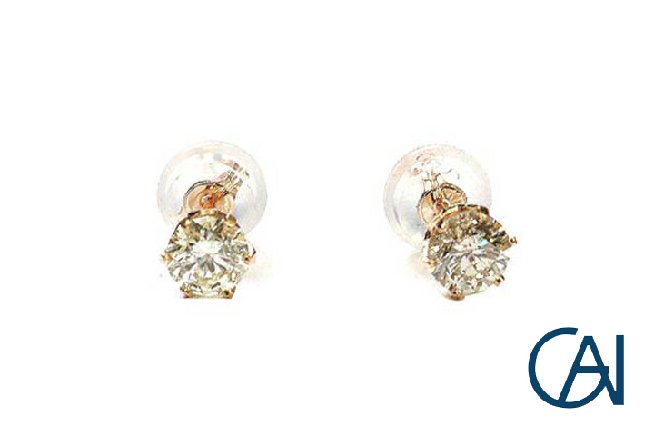GAI ~Select Jewelry~K18YG ダイヤモンド1粒ピアスD0.30ct【展示新品】