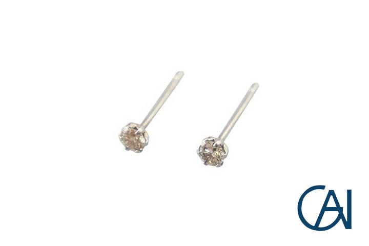 GAI ~Select Jewelry~PT グレインピアスD0.1ct【展示新品】