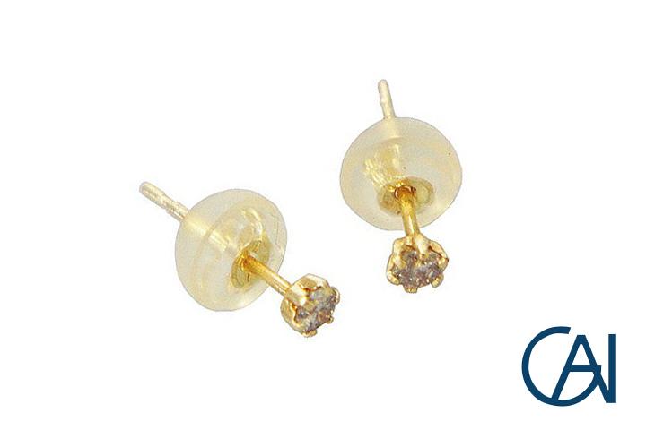 GAI ~Select Jewelry~K18YG グレインピアスD0.10ct【展示新品】