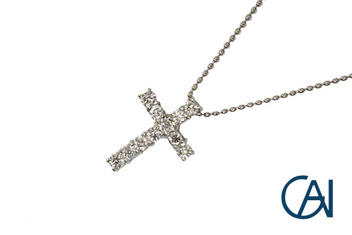 GAI~Select Jewelry~PT ダイヤモンドクロスペンダント/ネックレス【新品】